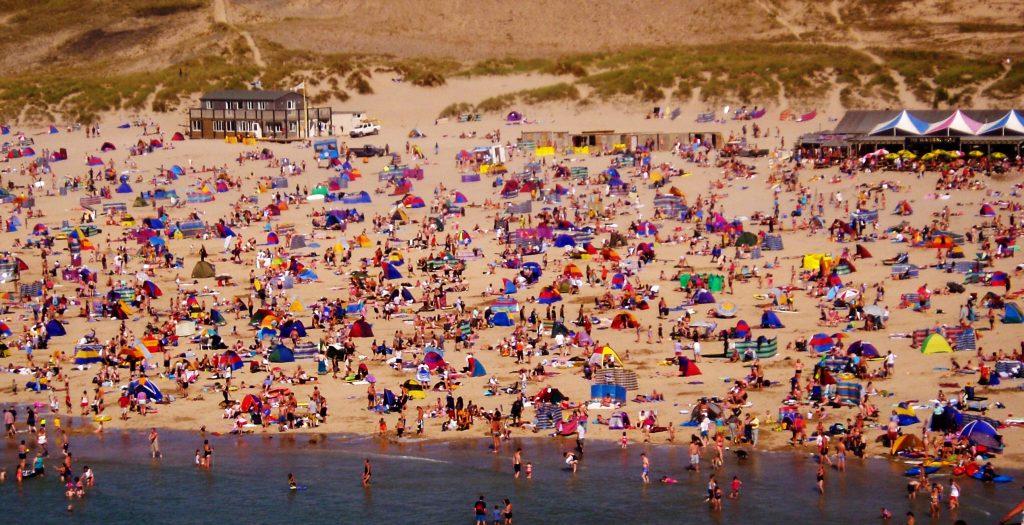 Perranporth Beach in Cornwall