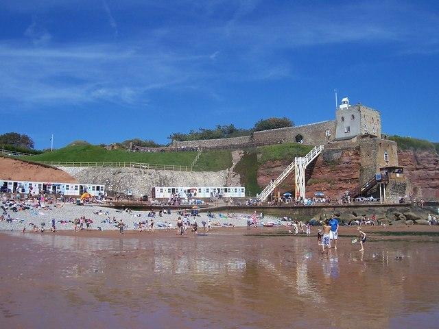 Jacob's Ladder Beach in Devon
