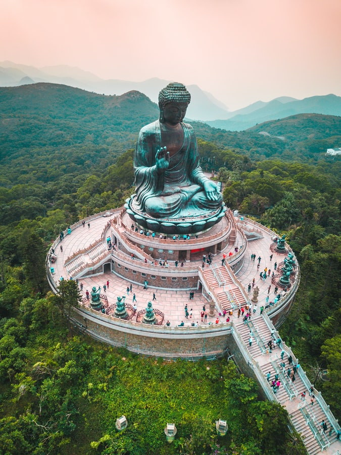 Arial shot of Big Buddha