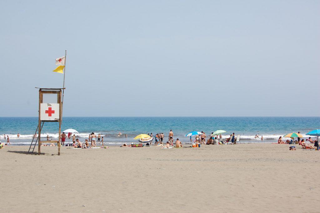 Gran Canaria Sunbathers on beach